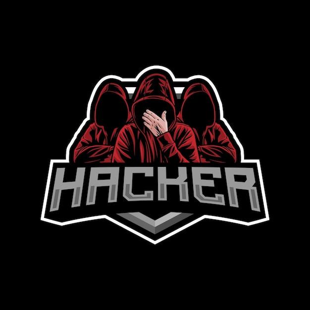Иллюстрация логотипа талисмана хакера Premium векторы