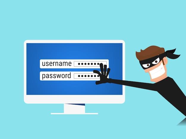 Hacker steal sensitive data Premium Vector
