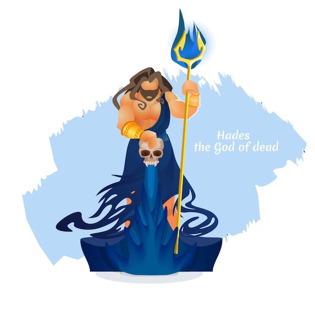 Аид, плутон или эйдис бог мертвых. греческая мифология Premium векторы