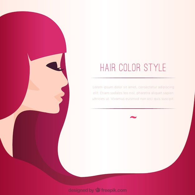 hair color style template vector free download