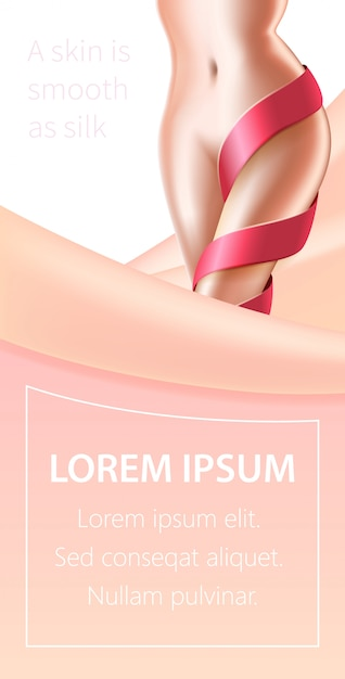Hair laser removal skin beauty procedure banner Premium Vector