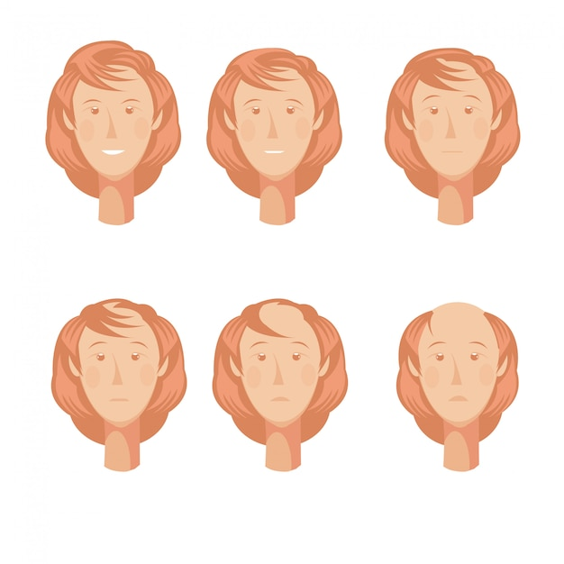 Hair loss storyboard composition Free Vector