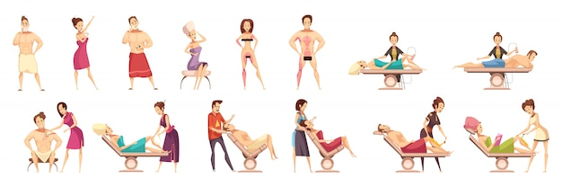 Hair removal depilation epilation icon set Free Vector