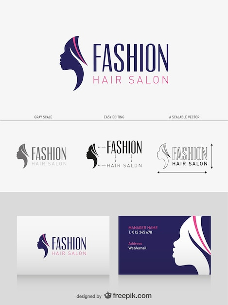 Hair salon business card vector free download hair salon business card free vector reheart Choice Image