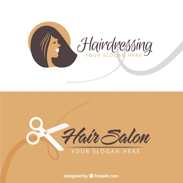 Hair salon business card vector free download hair salon business card free vector wajeb Choice Image