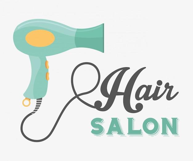 Hair salon design Free Vector