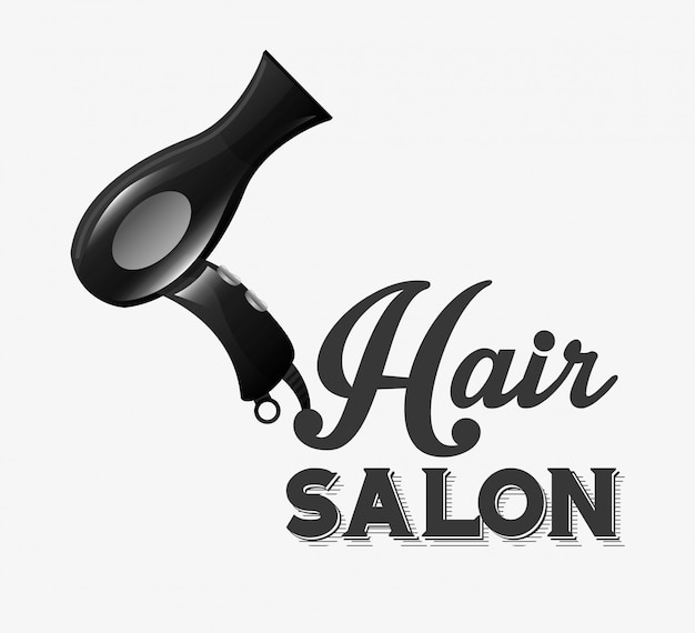 Hair salon design Free Vector