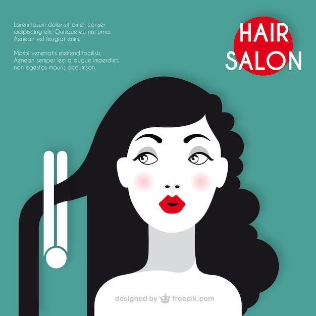 hair salon template vector free download