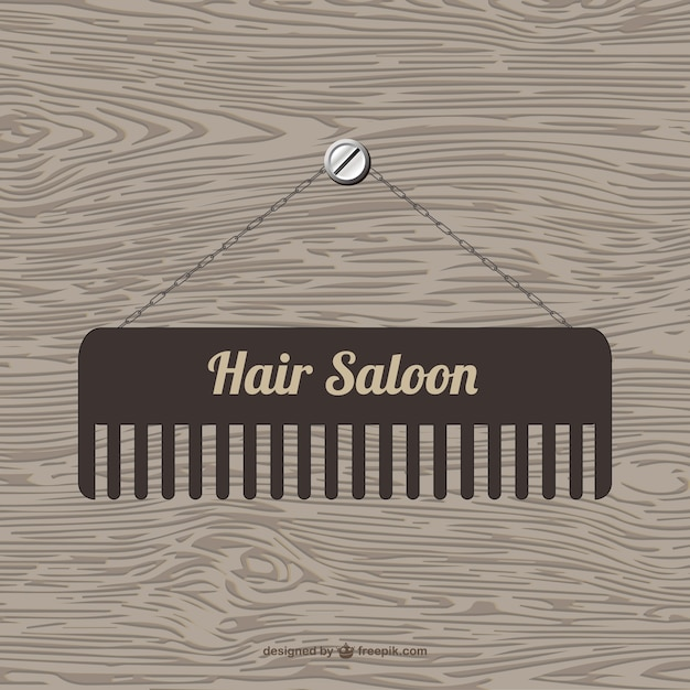 Hair saloon logo with a brush Free Vector