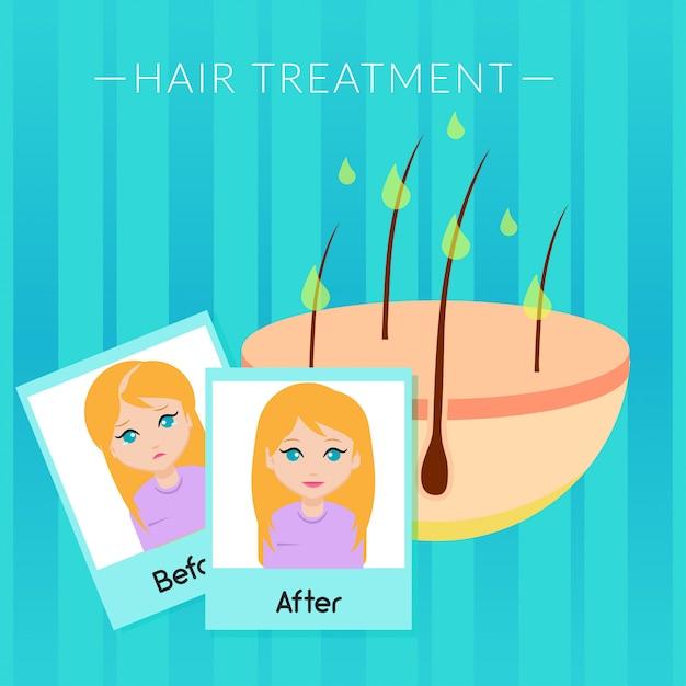 Hair treatment illustration Premium Vector