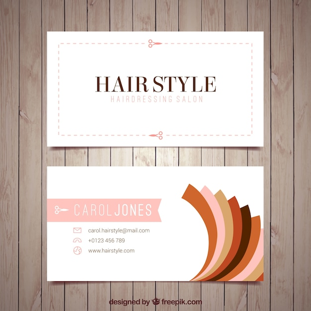 Hairdresser card template Vector   Free Download