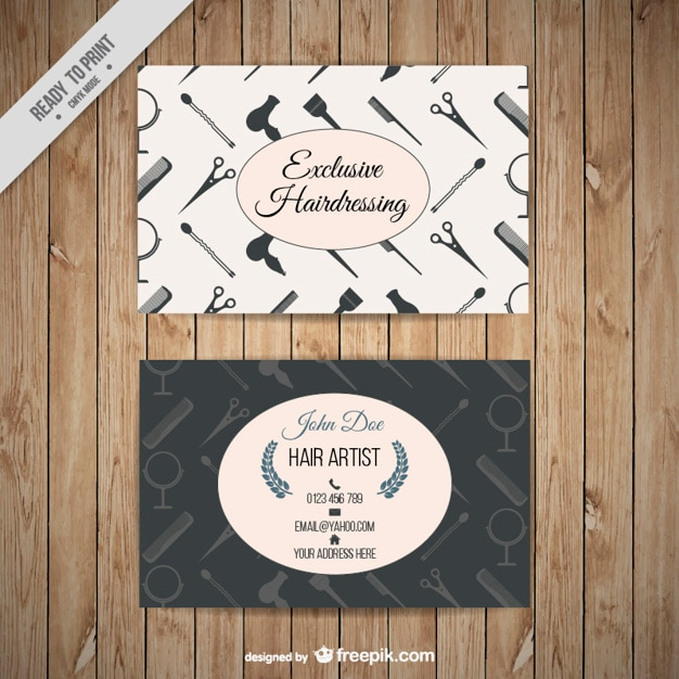 Hairdressing business card with tools silhouettes vector free download hairdressing business card with tools silhouettes free vector reheart Choice Image