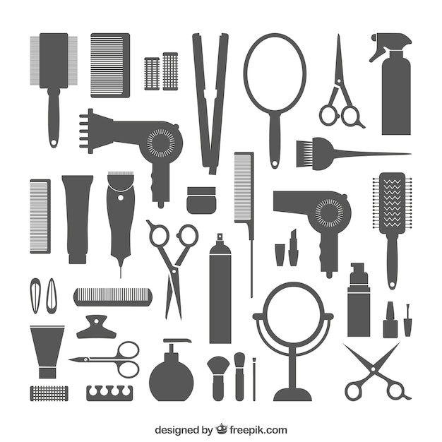 Hairdressing equipment Free Vector