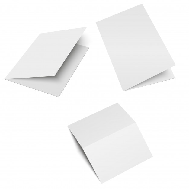 Halffold Brochure Blank White Template Vector Premium Download - Brochure blank template