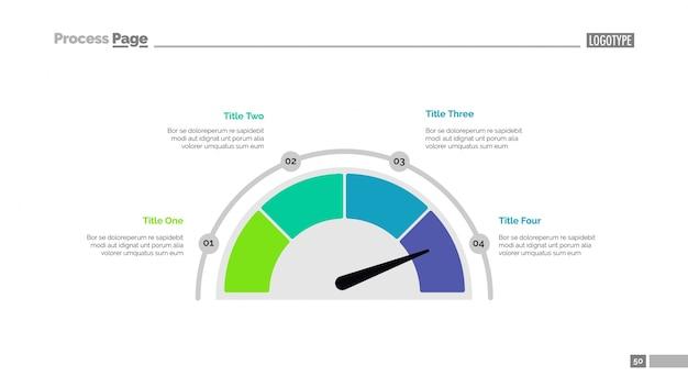 half pie chart slide template free vector