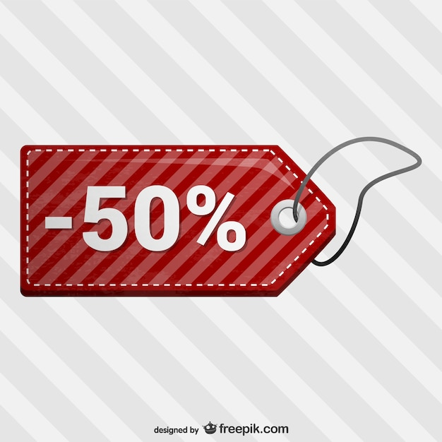 Half price discount sale tags Free Vector