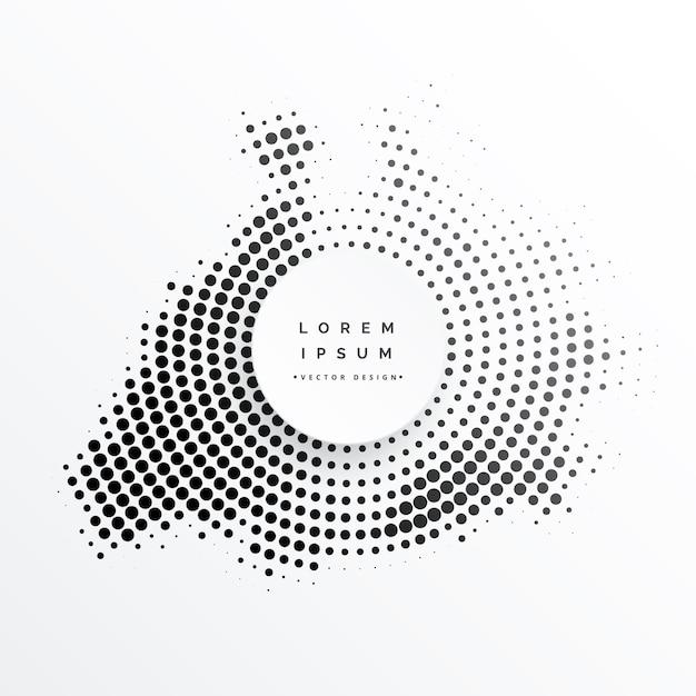Halftone abstract circular frame design Free Vector