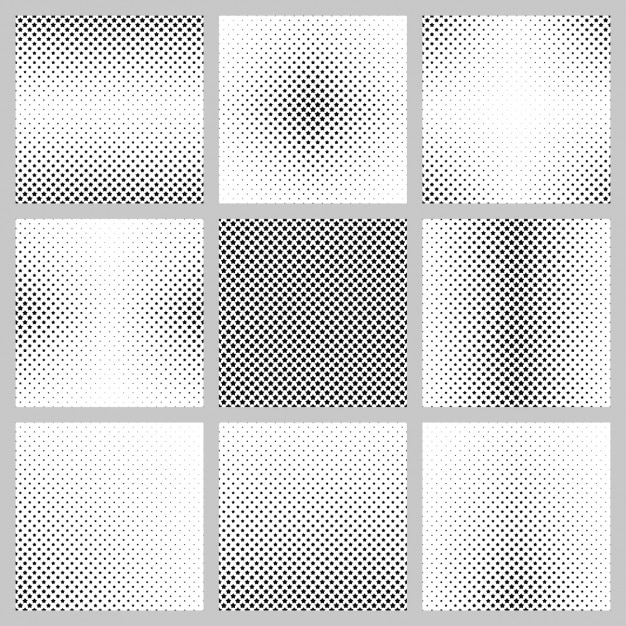 Halftone background collection Free Vector