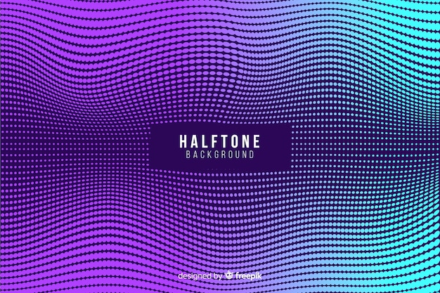Halftone background in gradient style Free Vector