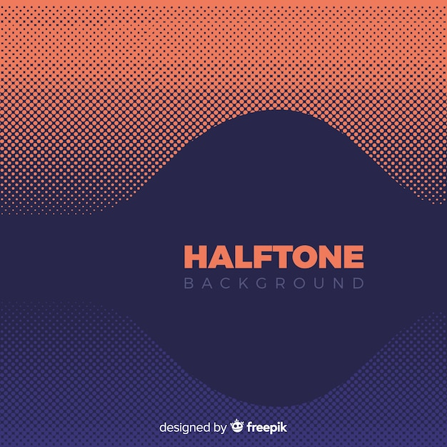 Halftone background Free Vector