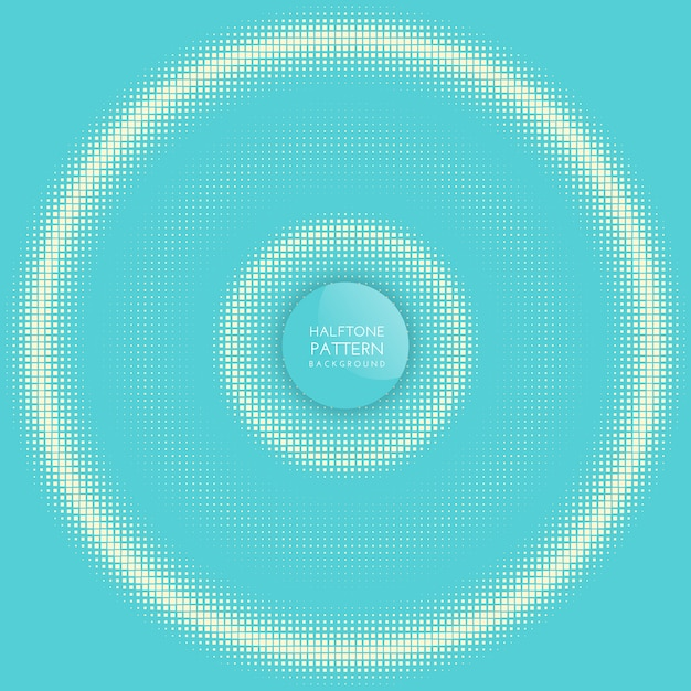 Halftone circle background Free Vector