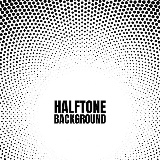 Halftone circle gradient background modern look for business or comic texture. Premium Vector