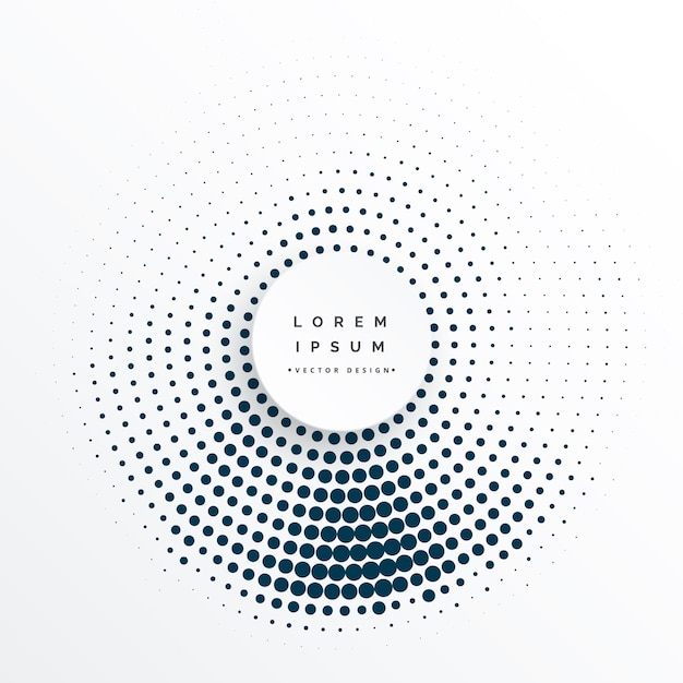 Halftone circles abstract background design Free Vector