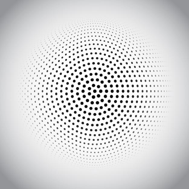 Halftone dots design Free Vector