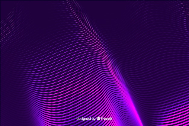 Halftone effect background gradient style Free Vector