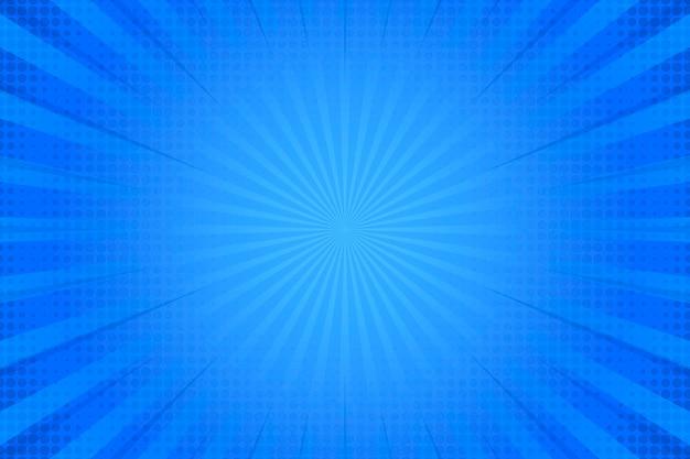 파란색 배경에 하프 톤 효과 프리미엄 벡터
