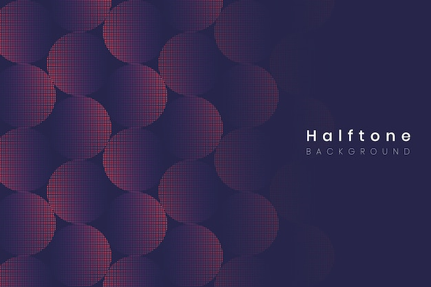 Halftone gradient background Free Vector