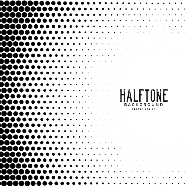 Halftone gradient dots pattern background Free Vector