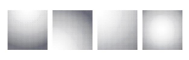 Set di sfondo di forma quadrata gradiente di semitono Vettore gratuito