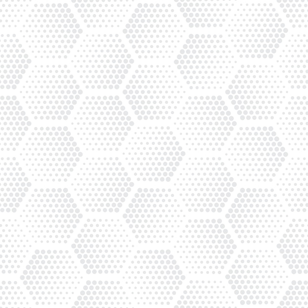 Halftone hexagons technology light repetitive seamless pattern Premium Vector