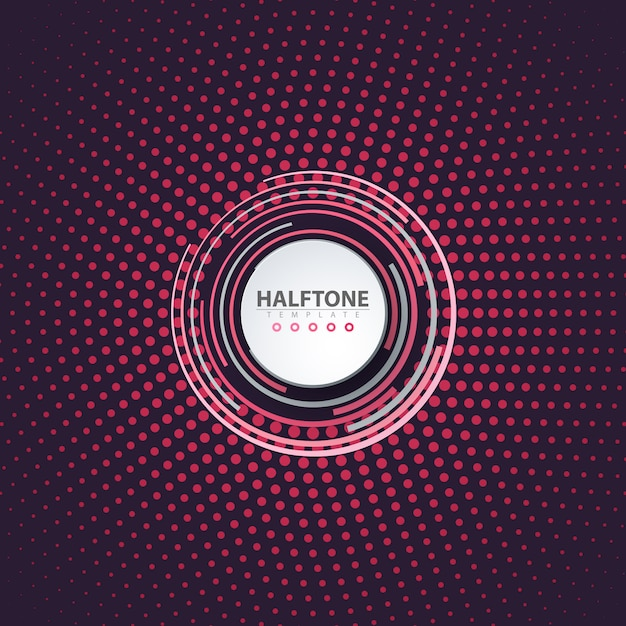 Halftone idea. color business background Premium Vector