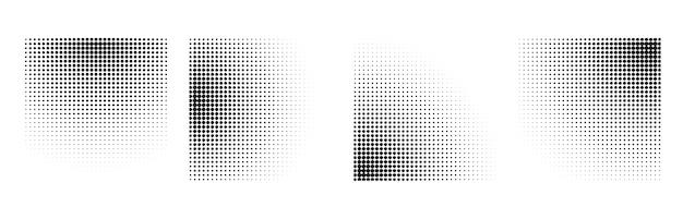 Набор полутоновых радиальных градиентов Бесплатные векторы