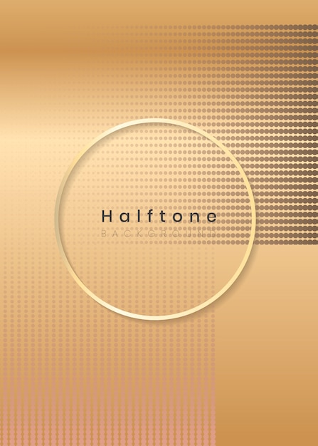 Halftone rectangle background frame Free Vector