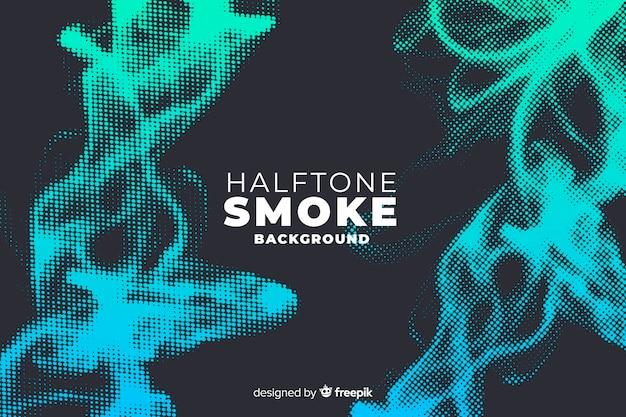 Halftone smoke background Free Vector