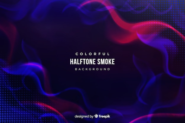 Halftone smoke background Free Vector