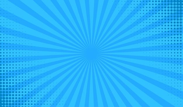 Halftone sunshine background Premium Vector