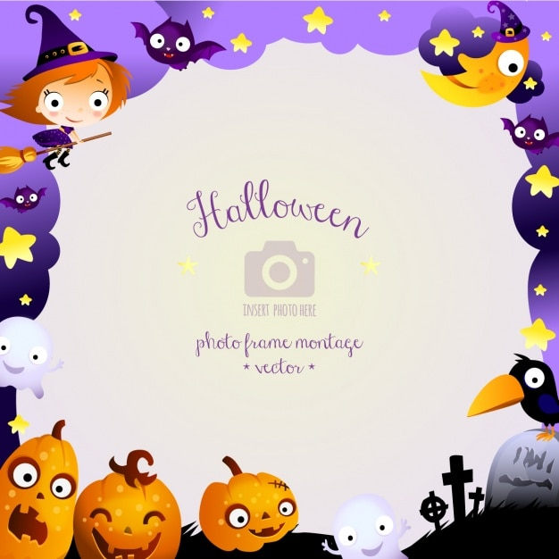 Halloween background design Free Vector