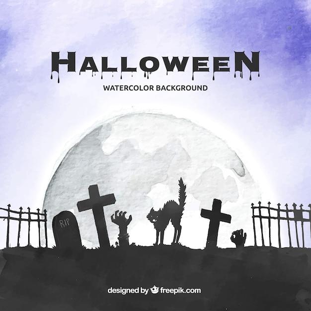 Halloween background design Free Vector