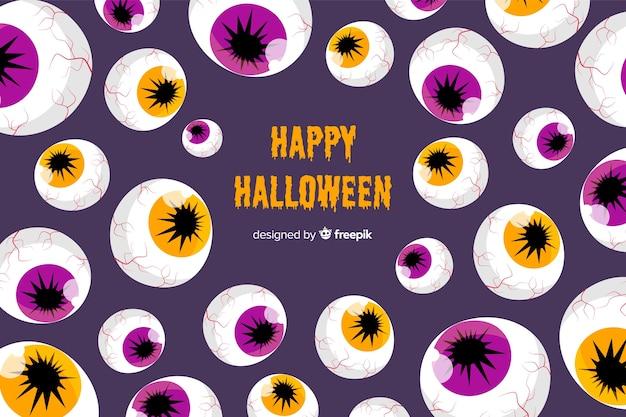 Halloween background in flat design Free Vector