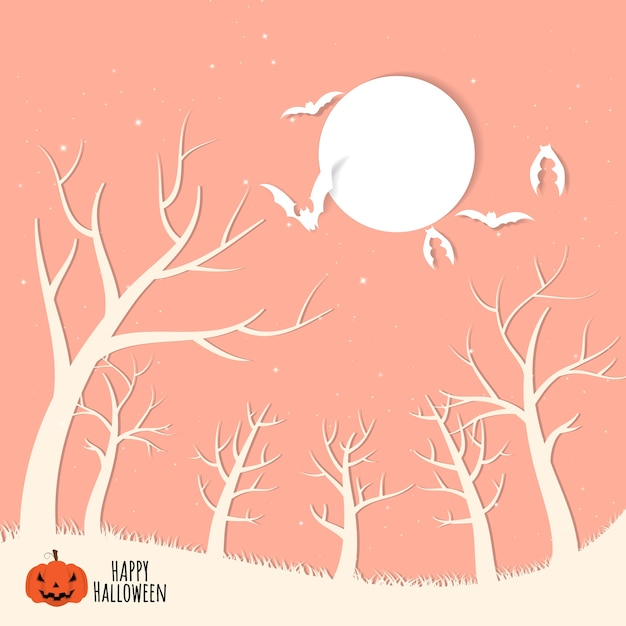 Halloween background have space for your text Premium Vector