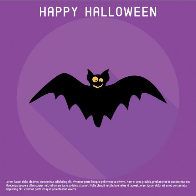 halloween background of happy bat vector free download