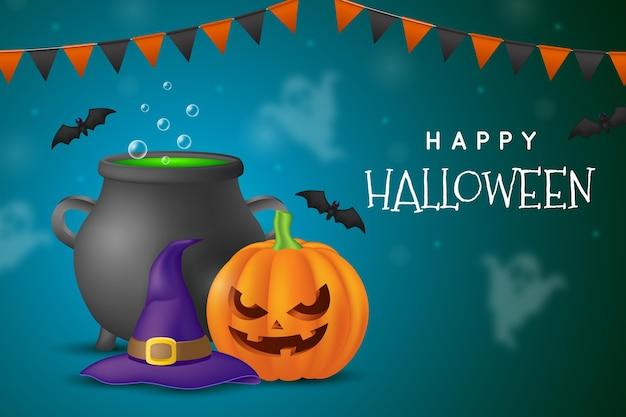 Хэллоуин фоновая тема Бесплатные векторы