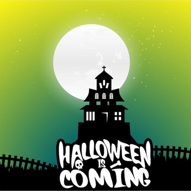 Halloween background vectors Free Vector