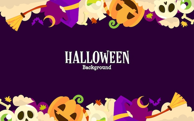 Halloween background with copy space text Premium Vector