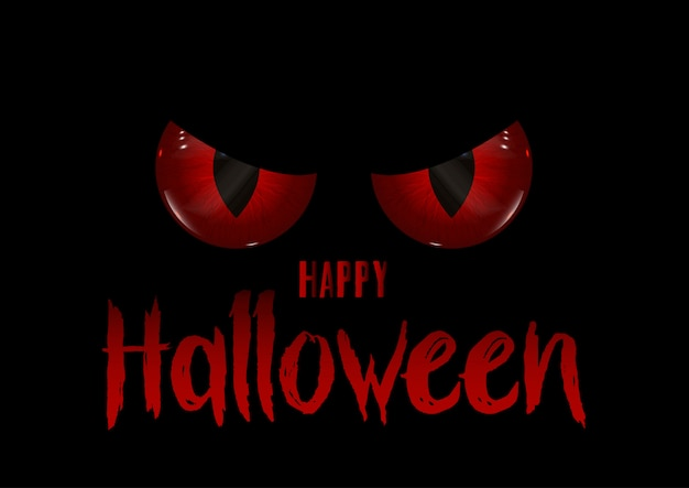 Halloween background with evil eyes Free Vector