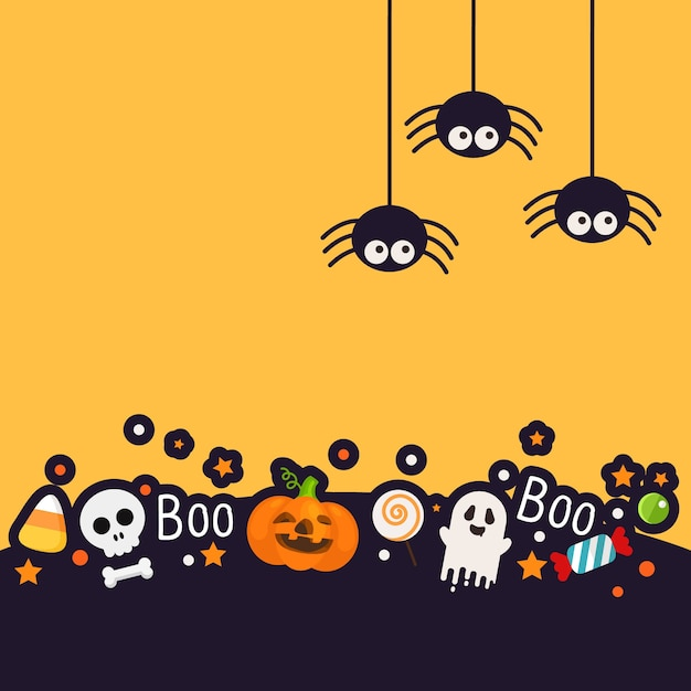halloween background with fun style vector premium download